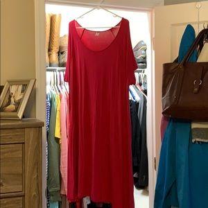 Women's jersey swing dress